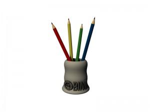 modely 3D stojan na písacie potreby